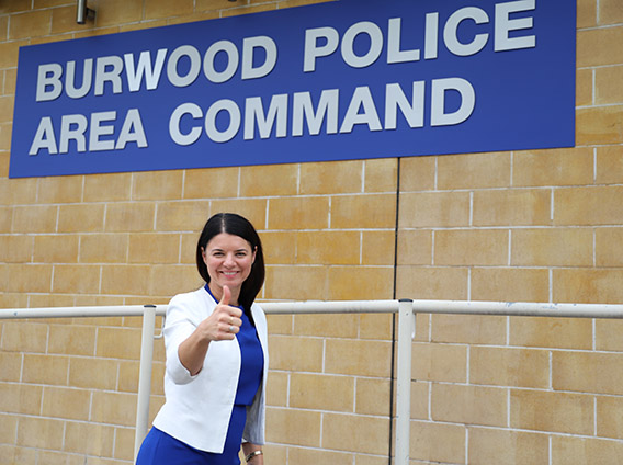 DR FIONA MARTIN GIVES A THUMBS UP FOR LOCAL POLICE