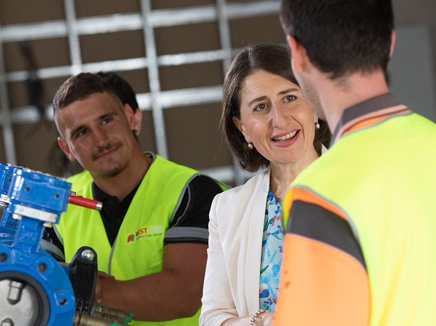 NEW 250,000 JOBS TARGET TO BOOST OPPORTUNITY FOR WORKERS AND PROMOTE TRADES ACROSS NSW